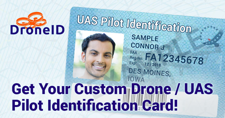 Droneid Your Custom Uas Drone Pilot Identification Card
